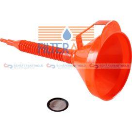 Műanyag tölcsér - flexibilis csővel