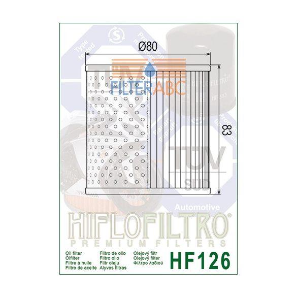 HIFLOFILTRO HF126 olajszűrő