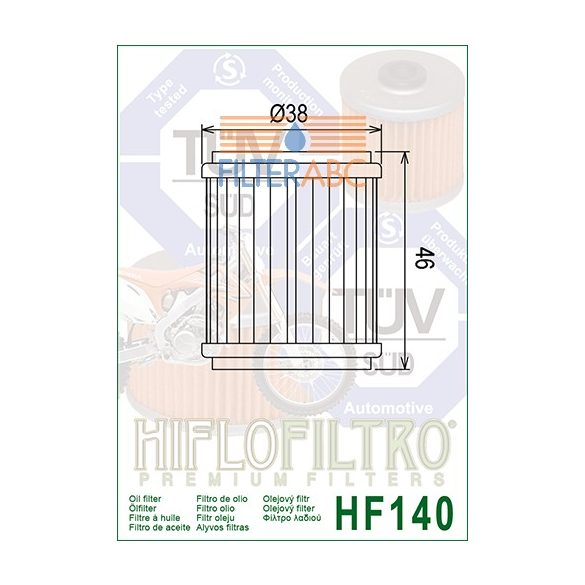 HIFLOFILTRO HF140 olajszűrő