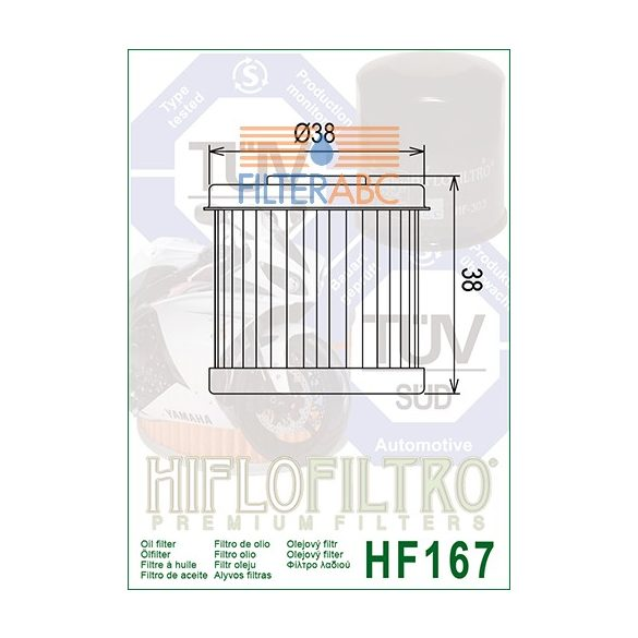 HIFLOFILTRO HF167 olajszűrő