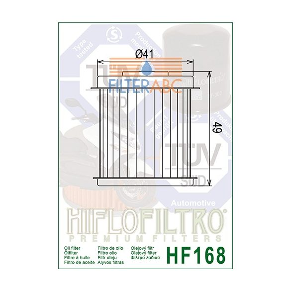 HIFLOFILTRO HF168 olajszűrő