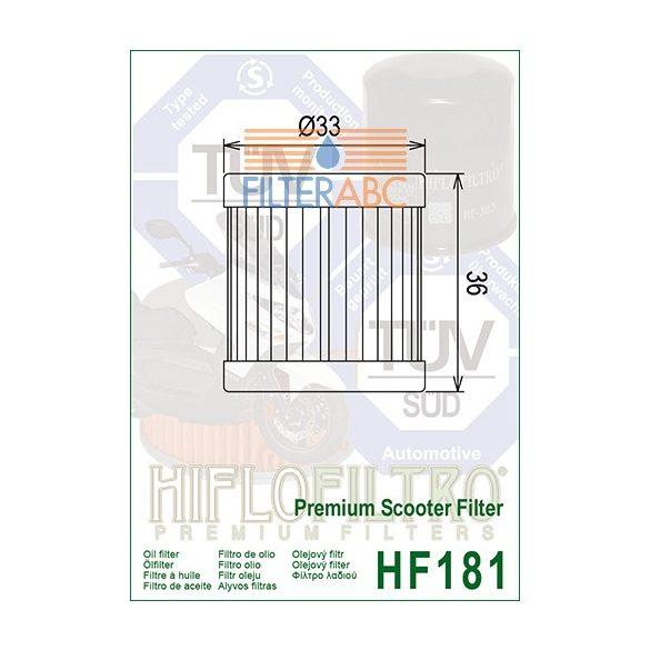 HIFLOFILTRO HF181 olajszűrő
