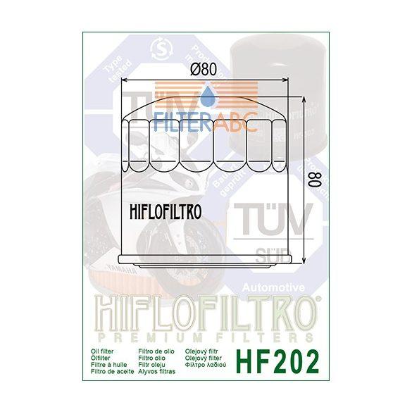HIFLOFILTRO HF202 olajszűrő