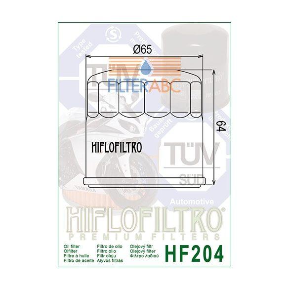 HIFLOFILTRO HF204C motorkerékpár olajszűrő (krómozott)