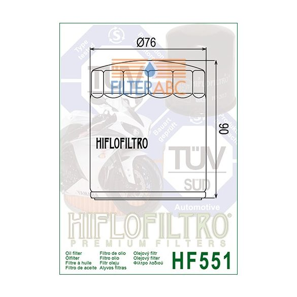 HIFLOFILTRO HF551 olajszűrő