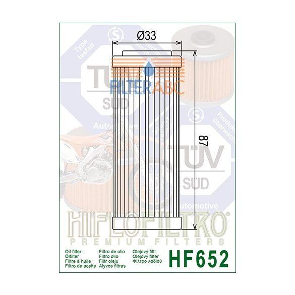 HIFLOFILTRO HF652 olajszűrő