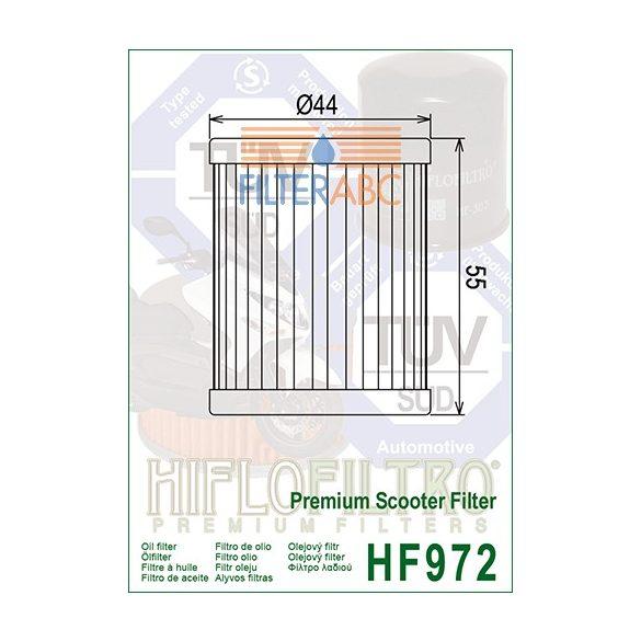 HIFLOFILTRO HF972 olajszűrő