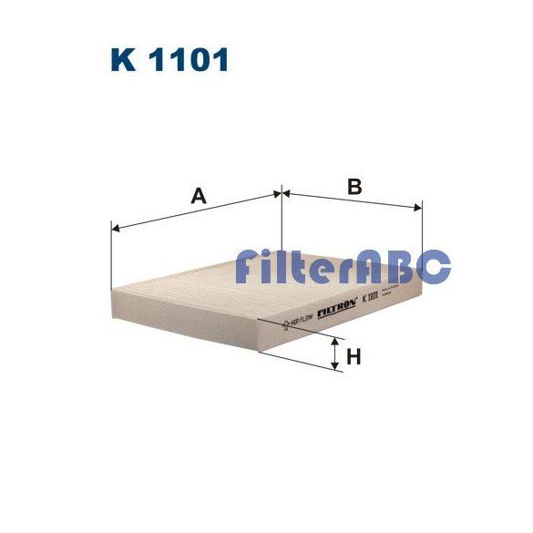 FILTRON K1101 pollenszűrő - (Klímával szerelt modellekhez)