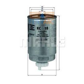 MAHLE ORIGINAL KC18 üzemanyagszűrő