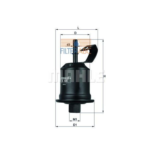 MAHLE ORIGINAL KL434 üzemanyagszűrő