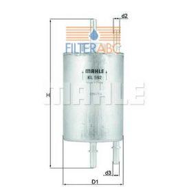 MAHLE ORIGINAL KL592 üzemanyagszűrő