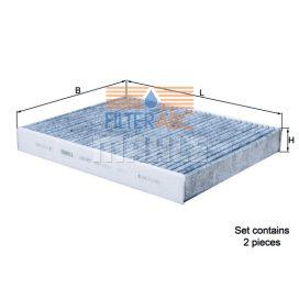 MAHLE ORIGINAL LAK467/S aktívszenes pollenszűrő (2 db / csomag)