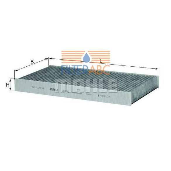 MAHLE ORIGINAL LAK56 aktívszenes pollenszűrő - 2002.02. hónapIG gyártott modellekhez