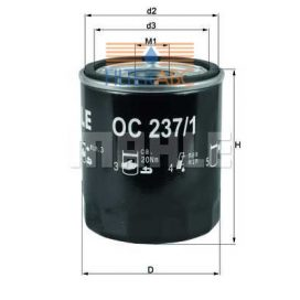 MAHLE ORIGINAL OC237/1 olajszűrő