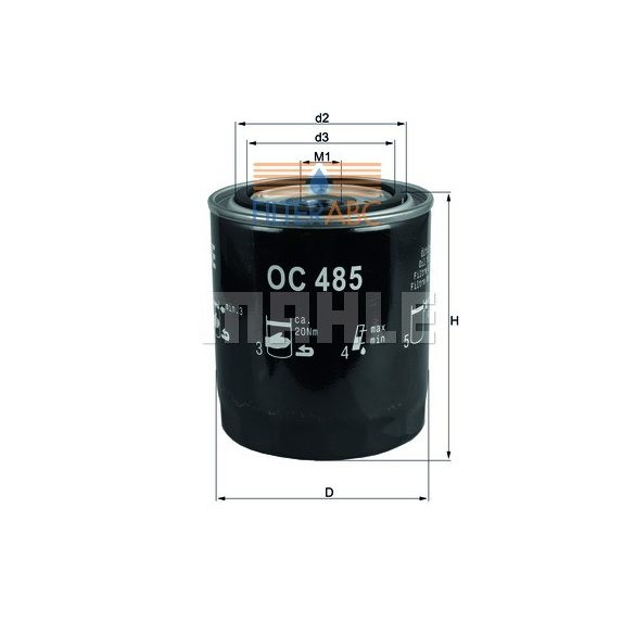 MAHLE ORIGINAL OC485 olajszűrő