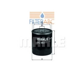 MAHLE ORIGINAL OC983 olajszűrő