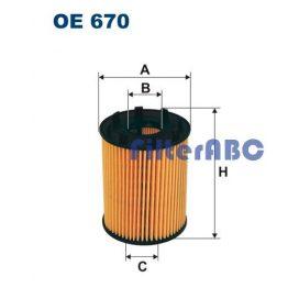 FILTRON OE 670 olajszűrő (PURFLUX rendszer)