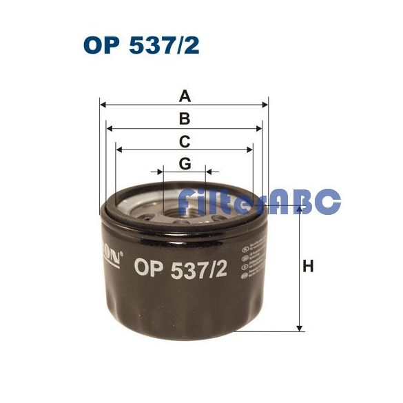 FILTRON OP537/2 olajszűrő