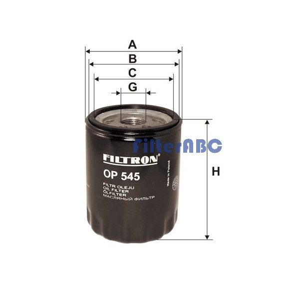 FILTRON OP 545 olajszűrő