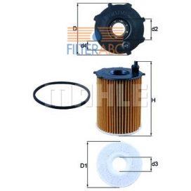 MAHLE ORIGINAL OX171/2D olajszűrő