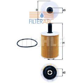 MAHLE ORIGINAL OX188D olajszűrő