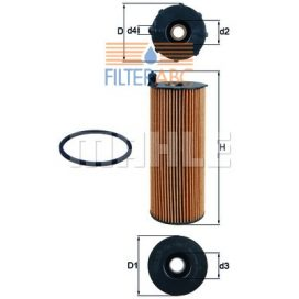 MAHLE ORIGINAL OX196/1D olajszűrő