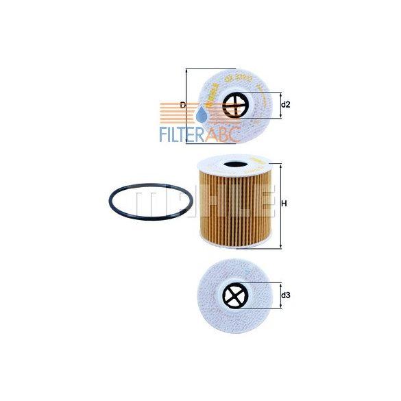 MAHLE ORIGINAL OX339/2D olajszűrő