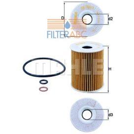 MAHLE ORIGINAL OX355/3D olajszűrő