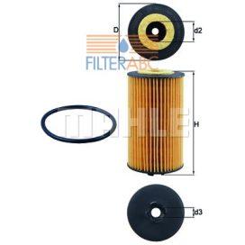 MAHLE ORIGINAL OX401D olajszűrő