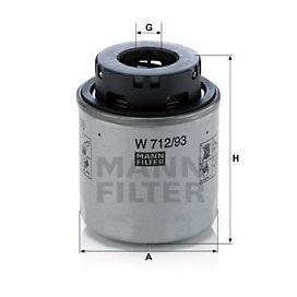 MANN FILTER W712/93 olajszűrő